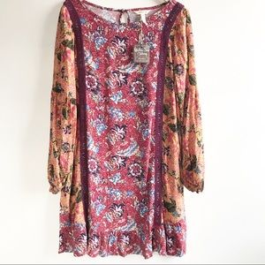 Matilda Jane Lovely Menagerie Boho Dress M